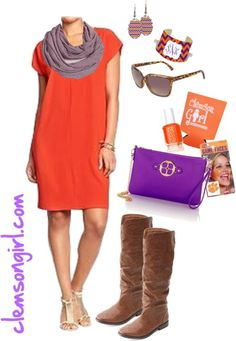 Clemson Gameday Look - Tailgate Transition Clemson Shirts, Clemson Football, Clemson Tigers, Football Season, Women's Football Outfits, Tailgate Outfit, University Outfit, College Outfits, Tiger Tails