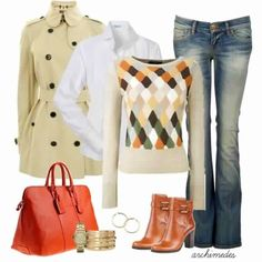Casual fall outfit. LOVE the sweater!!