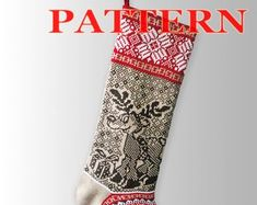 Knitted Christmas Stocking Patterns. by SELENMAR on Etsy Knitted Christmas Stocking Patterns, Knitted Christmas Stockings, Christmas Knitting, Etsy Seller, Create, Holiday Decor