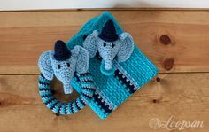 Edward- The circus elephant rattle Free Pattern - Loopsan