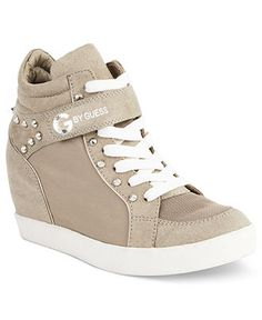 G by GUESS Women's Shoes, Pop Star Wedge Sneakers - Handbags & Accessories - Macy's