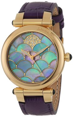 "Salvatore Ferragamo Women's FI2040013 ""Idillio"" Diamond-Accented Rose Gold Ion-Plated Watch with Leather Band"
