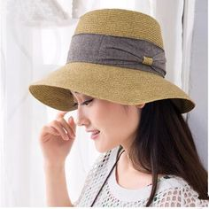 Womens bow straw sun hat for summer beach hats UV package