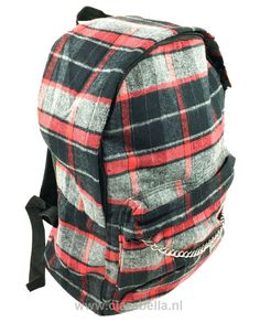 Black Grey-Red Check Rucksack  Price: €19.95  http://www.clarabella.nl/accessories/bags/rucksack/check/black-grey-red-check-rucksack/   15% discount on EVERYTHING in our store. Sign up here to receive your personal discount code:http://eepurl.com/boSy7H