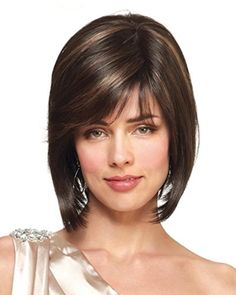 Long Hair With Bangs, Short Straight Hair, Twist Hairstyles, Short Bob Hairstyles, Monofilament Wigs, Silk Hair, Short Wigs, Womens Wigs, Professional Hairstyles