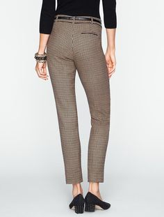 Talbots - Signature Houndstooth Ankle Pants | Misses & Petites |  ~~  I have several of these pants up for sale on my eBay site;  victor-and-mia