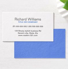 57 best generic business cards images on pinterest professional blue modern generic simple elegant personal business card colourmoves