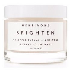Herbivore Botanicals Brighten Pineapple & Gemstone Mask ($53) ❤ liked on Polyvore featuring beauty products, skincare, face care, face masks, beauty, facial mask, brightening mask, herbivore and face mask