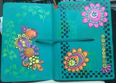 Art journal-Tracy Scott stamps