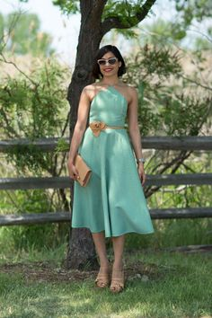 Freida Pinto in Michael Kors. ELLE.com photographer Tyler Joe captures the chicest street style moments from Veuve Cliquot Polo Classic in New York City's Liberty Island, where Hollywood's finest gathered to kick off summer.