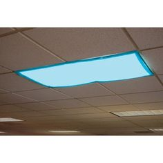 Features:  -Comes with fabric panels to cover fluorescent lights that fit over standard ceiling fixtures with sturdy, sewn - in magnets.  -Each set includes four 2'' x 4'' heat - resistant panels in e