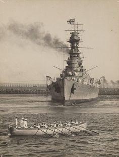 HMS Hood, Sydney 1924 Hms Hood, Capital Ship, Naval History, Military Pictures, Navy Ships, Aircraft Carrier, Royal Navy, Battleship, World War Ii