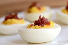 Bacon & cheese deviled eggs