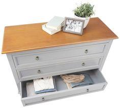 Attraktives Sideboard in Grau und Natur - klassisch schön und praktisch Modern, Sideboard, Table, Furniture, Home Decor, Diy, Ideas, Dresser, Shelf