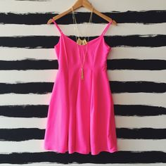This hot pink dress is everything    To order, call us at 4794342318!