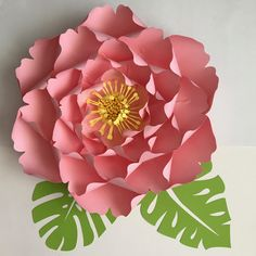 Paper Flowers -SVG Files Petal Giant Peony - Cutting Machine Ready-Original and Made by The Crafty Sagittarius by TheCraftySagAnnie on Etsy 3d Paper Flowers, Paper Flower Wall, Paper Flower Backdrop, Dyi Flowers, Felt Flowers, Flower Template, Scrapbook, How To Make Paper, Flower Tutorial