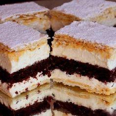 Gyorsan kész mennyei szláv krémes - Blikk Rúzs Hungarian Desserts, Romanian Desserts, Hungarian Recipes, Baking Recipes, Cake Recipes, Delicious Desserts, Yummy Food, Croatian Recipes, Sweet Cookies