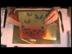 Imagination Crafts - Sparkle Medium demo using a fairy stencil - YouTube