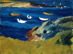 "Edward Hopper - ""Dories in a Cove"" 1914"