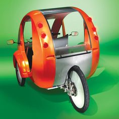 The Solar Velomobile. This is the velomobile with a solar-powered motor, enabling jaunts to be powered by the sun or the rider's...