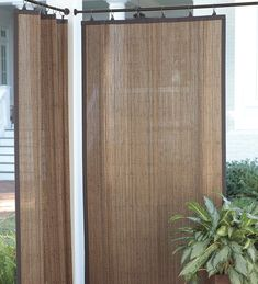 """Outdoor Bamboo Curtain Panel, 40""""W x 63""""L"""