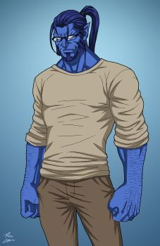 Hank Mccoy commission by phil-cho