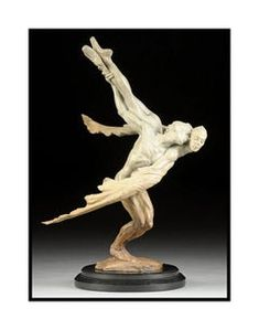 For Sale on - Sissone, Half life, Bronze by Richard MacDonald. Offered by Dawson Cole Fine Art. Abstract Sculpture, Bronze Sculpture, Dog Artwork, The Dancer, Balloon Dog, Ceramic Flowers, Circle Of Life, Italian Artist, Small Art