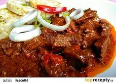 Czech Recipes, Stew, Meat, Food, Fine Dining, Red Peppers, Cooking, Essen, Meals