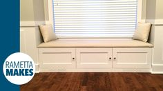 How to Build a Window Banquette with Leather Seat // DIY
