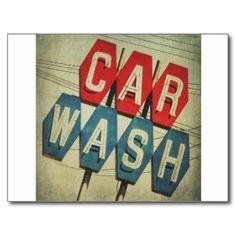 Retro Car Wash Sign Art Print by honeymh Car Wash Sign, Hand Car Wash, Car Wash Posters, Design Autos, Garage Party, Retro Logos, Retro Design, Design Design, Small Cars