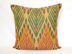 tree of life wonderful ikat pillow cover 20x20 size by SilkWay, $24.69