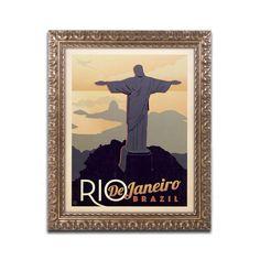 Rio de Janeiro, Brazil by Anderson Design Group Framed Graphic Art
