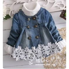 Trendy Sewing Baby Jacket Children – Best for Kids Baby Girl Fashion, Kids Fashion, Little Girl Dresses, Girls Dresses, Toddler Outfits, Kids Outfits, Denim And Lace, Baby Sewing, Baby Dress