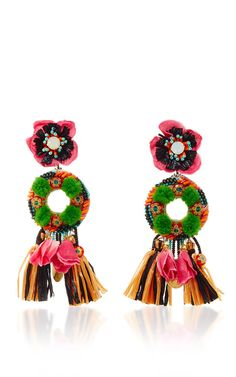 Add a pop of interest and color to any outfit with these great Fringed Floral Drop Earrings  - get even more style and shopping inspiration on http://jojotastic.com/shop-my-favorites/