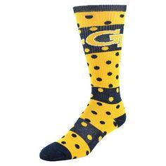 Women's Georgia Tech Yellow Jackets Dotted Line Knee-High Socks, Size: 9-11, Blue (Navy)