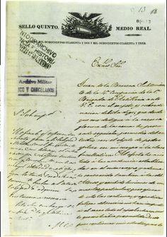 S E L L O   Q U I N T O .   M E D I O   R E A L. AÑOS DE MIL OCHOCIENTOS CUARENTA Y DOS Y MIL OCHOCIENTOS CUARENTA Y TRES.  Documento de Juan de la Barrera  http://bibliotecadigital.ilce.edu.mx/sites/1847/1309/sec/segunda/barrera/barrera1.html