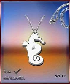 Axcesi 520T Hippocampus pendant  stainless steel 35x21mm by Axcesi
