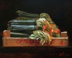Michael Lynn Adams · Zucchini Flowers 16x20 inches | oil Food Art Painting, Zucchini Flowers, Still Life Fruit, Still Life Oil Painting, Hyperrealism, Art Market, Lovers Art, Fine Art, Landscape
