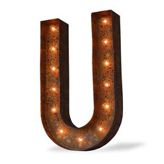U Icon Marquee Letter Light from The Rusty Marquee