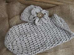 Crochet Baby Cocoon in a Misty Taupe with by TwoSistersBoutique62, $27.50