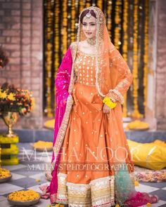Here are the mehndi/dholki dresses I found and saved in February Pakistani Mehndi Dress, Pakistani Party Wear Dresses, Beautiful Pakistani Dresses, Bridal Mehndi Dresses, Shadi Dresses, Mehendi Outfits, Pakistani Wedding Outfits, Bridal Dress Design, Pakistani Bridal Dresses