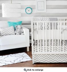 Baby chevron nursery