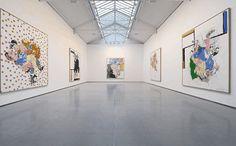 Georg Baselitz at Galerie Thaddaeus Ropac, Paris Art Basel Miami, Pints, Modern Art, Paintings, Interiors, Sculpture, Google, Inspiration, Art