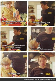 Measurements by Misha Collins' son