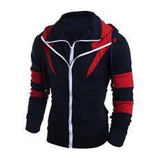 FAPIZI ❈ Men Coat ❈ Men Thickening Retro Long Sleeve Hood...