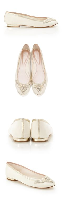 Beautiful Bridal Ballet Flats from Emmy London