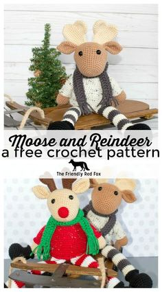 This crochet moose and crochet reindeer was a lot of fun to make! I had this image in my head that I worked really hard to replicate- the pe...