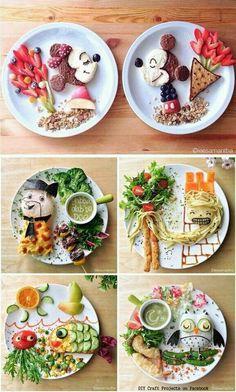 Food art - amazing snacks for kids Toddler Meals, Kids Meals, Butterfly Snacks, Food Art For Kids, Children Food, Food Kids, Art Children, Creative Food Art, Creative Kids