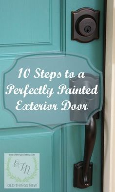 Trendy ideas for metal front door makeover diy Painted Exterior Doors, Exterior Door Colors, Front Door Paint Colors, Painted Front Doors, Diy Exterior, Paint For Front Door, Exterior Design, Front Door Makeover, Front Door Decor