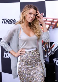 Blake Lively. What is not perfect with this outfit? I love her fashion sense, and it helps that she's got a similar body type so I can get an idea of how things would look on me